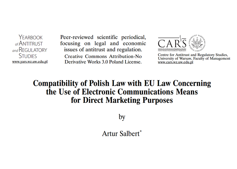 Compatibility of Polish Law with EU Law Concerning
