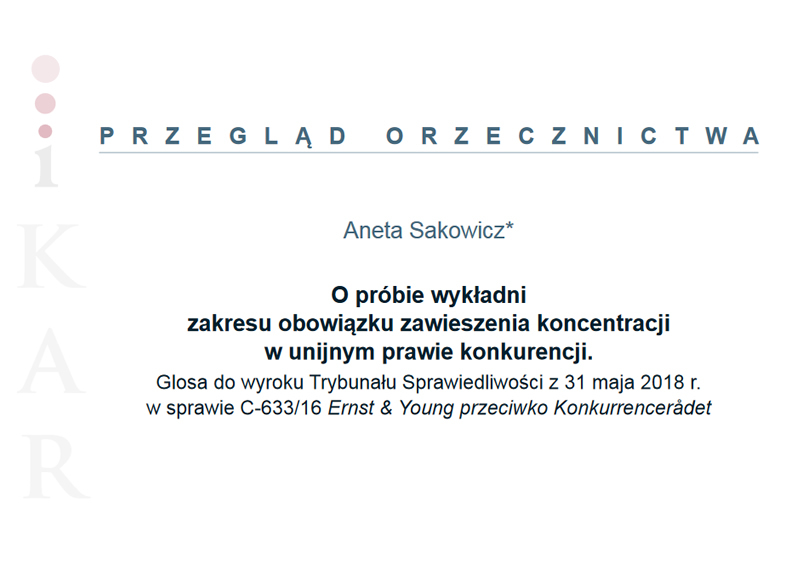 Polecamy artykuł autorstwa mecenas Anety Sakowicz